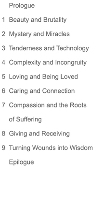 Excerpts, In Awe of Being Human: Table of Contents.